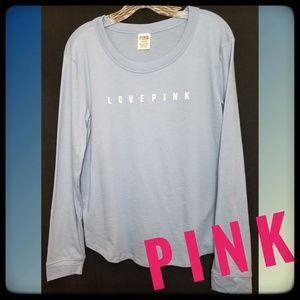 """VS PINK*""""Love Pink"""" Soft BlueT-Shirt"""